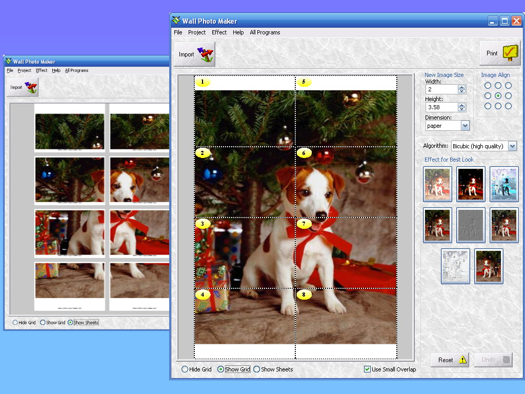 Software helps you to print photo of huge size by enlarging it